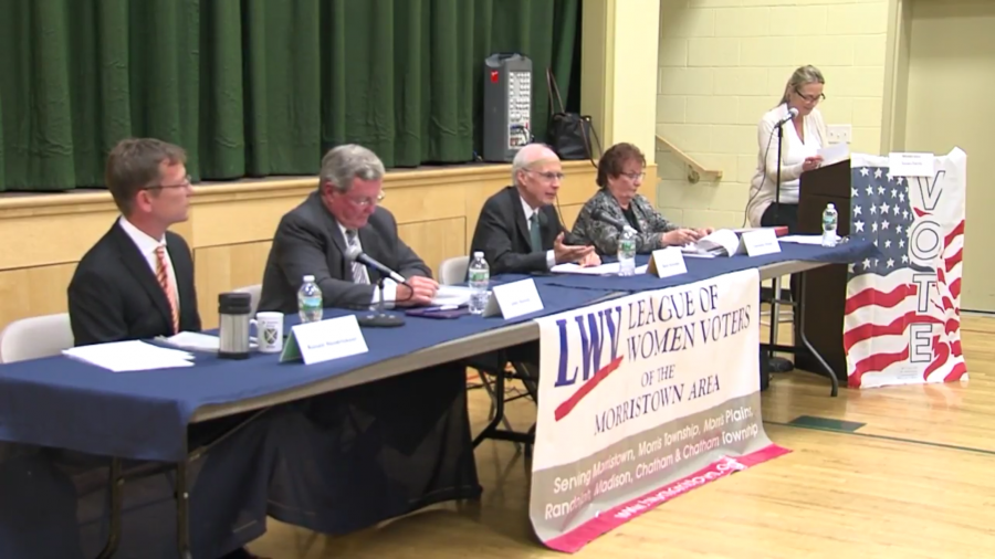 A screen capture of the October 26, 2017 League of Women Voters Candidates Forum