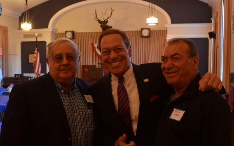 Carmine Toto with Joe Piscopo and Rocco Iossa