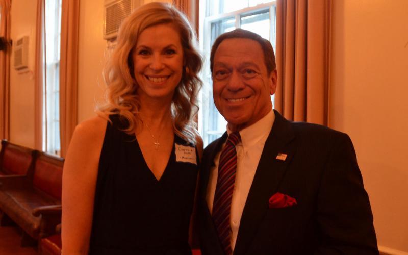 Cynthia Falco with Joe Piscopo