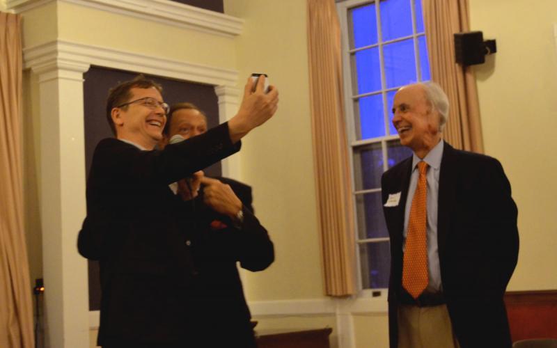 Joe Piscopo participating in a selfie