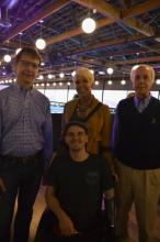 Ron Hendrickson, Todd Love, Amanda Sullivan Love, and Denis Schreiber