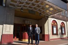 2017 Republican Candidate for Madison, NJ Borough Council Denis Schreiber with Greg Supron, head of the Mayor Performing Arts Center's Real Estate and Development Committee