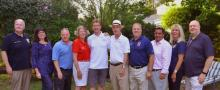 Pictured L-R:  Morris County Sheriff James Gannon; Morris County Clerk, Anne F. Grossi; Morris County Freeholder Director Doug Cabana; Morris County Freeholder Debora Smith; Madison Council Candidate, Dr. Ron Hendrickson;  Madison Council Candidate Denis Schreiber; Morris County Freeholder Tom Mastrangelo; Morris County Republican, Rob Zwigard; State Assemblywoman BettyLou DeCroce; and Madison Borough Councilman Pat Rowe.